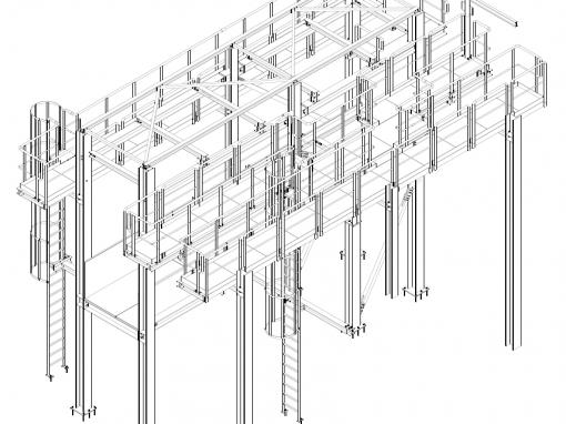 Unterkonstruktionen für Fördertechnik – Changchun, China